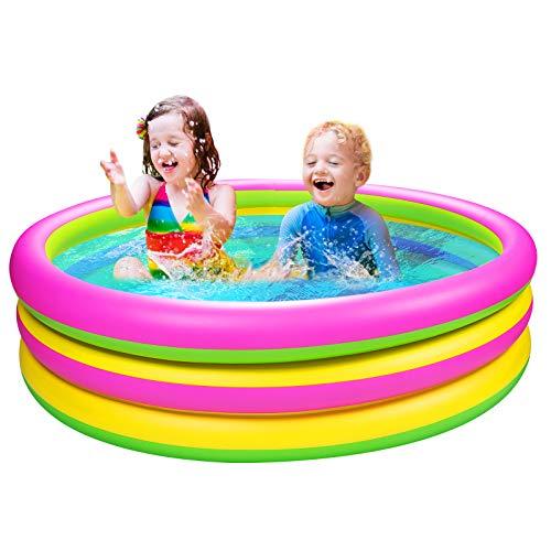 Joyjoz Piscina Hinchable para Niños 150 cm * 36 cm Piscina para Infantil Piscina Jardín Juguetes de Verano para Juegos de Agua al Aire Libre e Interior