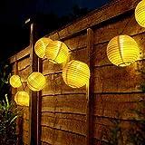 Ibello - Guirnalda solar LED para exteriores con 20 luces LED, 4,2 m, impermeable, decoración para dormitorio, jardín, Navidad, Halloween