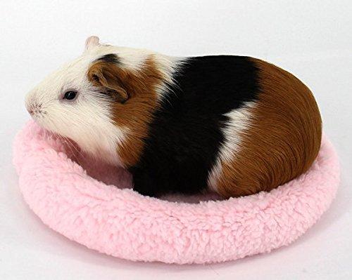 Runde Form Haustier Hamster weiche Pads bequem Nicht-fusselnde Fleece Matte kleine Tiere Winter Schlaf Warm Bett Kissen Igel Haus Decke (rosa-22cm)