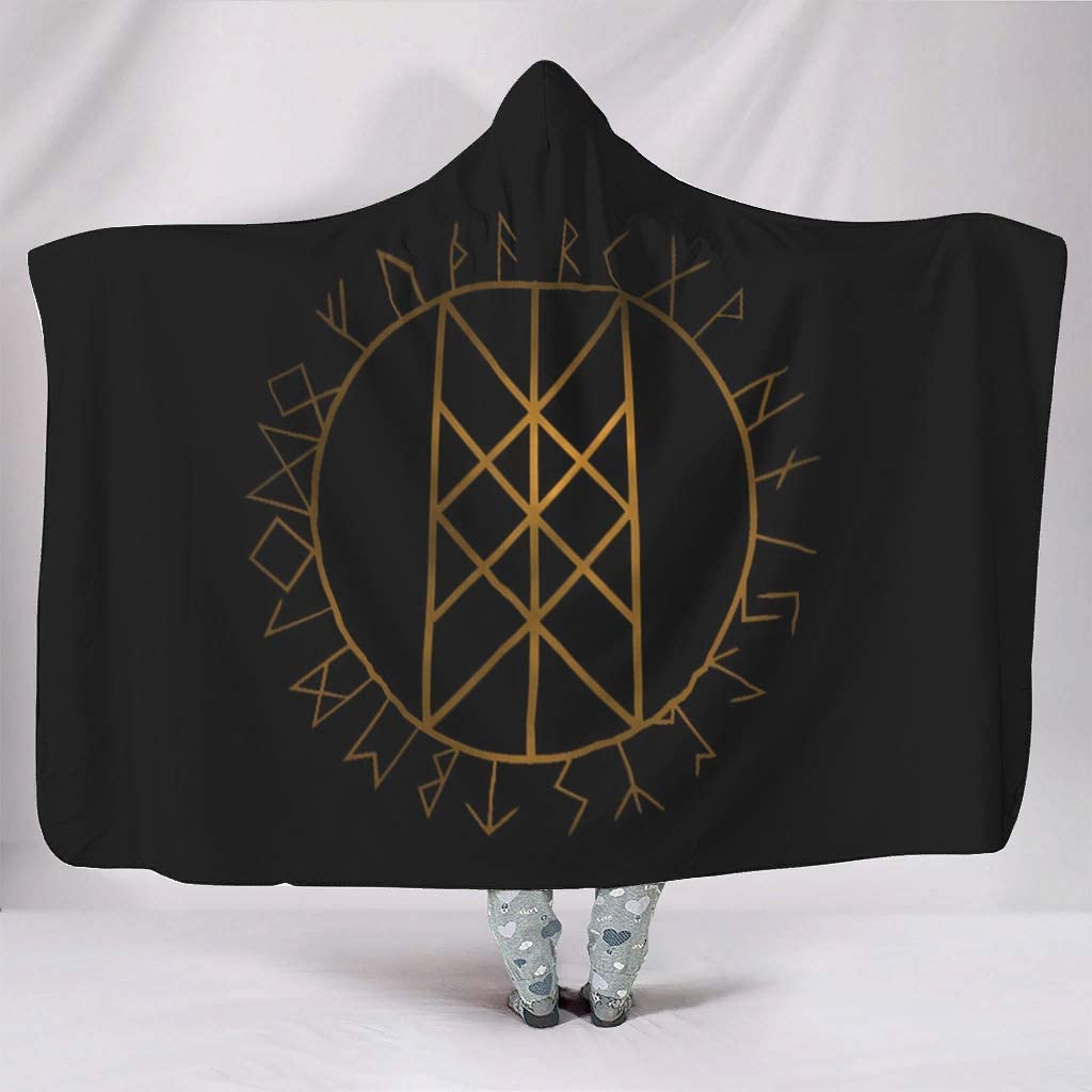 Rtisandu Hooded Blanket Viking Cloa Financial Free Shipping Cheap Bargain Gift sales sale Wearable Soft Symbol