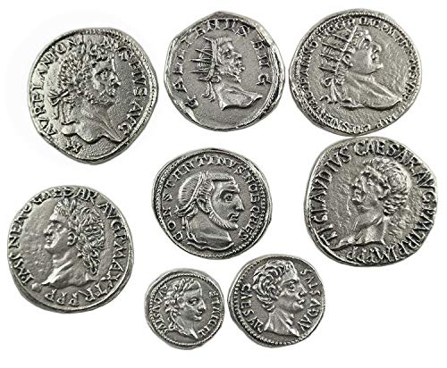 Monete Romane Antiche placcate argento - SET 8 pezzi