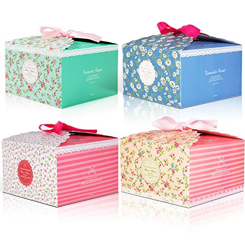 12pcs Cajas de regalo MOOKLIN Caja de dulces Caja de papel de galletas para la boda cumpleaños fiesta de bienvenida