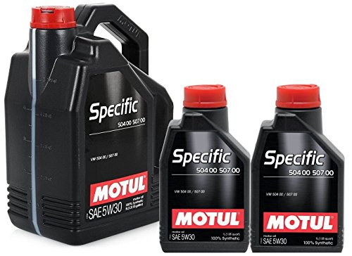 Motorolie 106375 Motul Specific 504.00-507.00 5W30 7 liter (1x5 lt 2x1 lt)