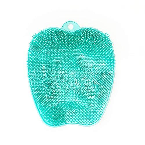 Emoly - cepillo para polvo masajeador de pies con ventosas antideslizantes, almohadilla masajeador de pies de silicona que mejora la circulación de los pies y reduce el dolor de pies (verde)
