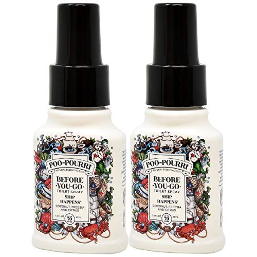 Poo-Pourri Before You Go Toilet Spray Ship Happens 1.4 Ounce Bottle, 2 Pack
