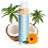 COCOSOLIS COOL Lotion Aprs Soleil  l'huile de coco - Crme hydratante pour le corps et soin visage aux huiles bio - Prolonge le bronzage (110 ml)