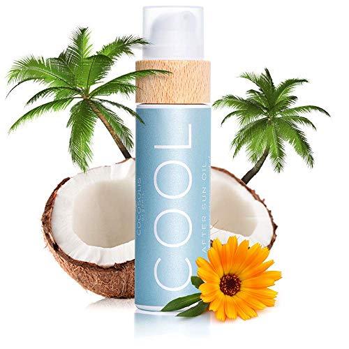 COCOSOLIS COOL Lotion Après Soleil à l'huile de coco - Crème hydratante pour le corps et soin visage aux huiles bio - Prolonge le bronzage (110 ml)