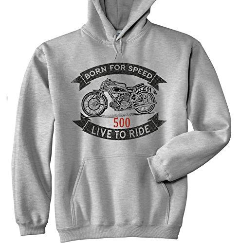 TEESANDENGINES Moto Guzzi 500 BICILINDRICA Sudadera con Capucha Size Xlarge