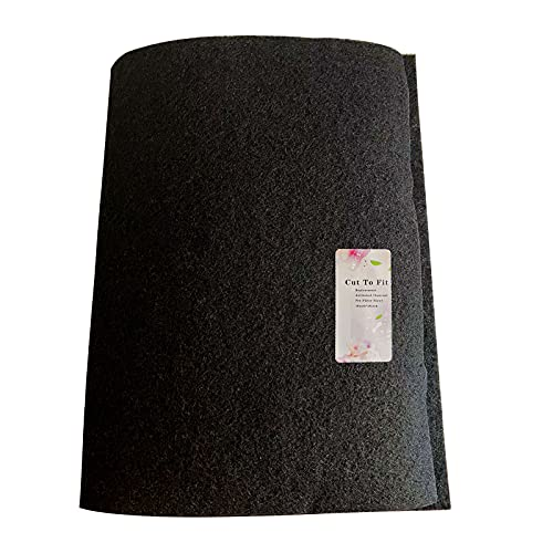 99 Langmax Carbon Fabric Filter Replacement Cut To Fit Charcoal Hepa AC Vent Filter Activated Charcoal Carbon Air Filter Fabric Sheet Carbon Pad 16 x 48 inch