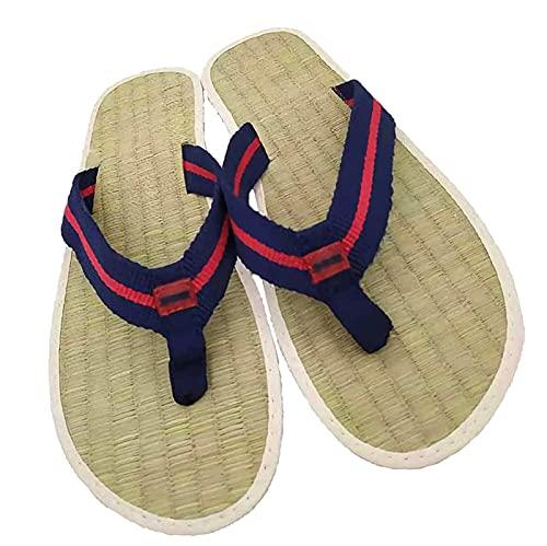 Chanclas Zapatillas Sandalias, Zapatos De Paja Bambú Mujer Hombre Separadores De Dedos...