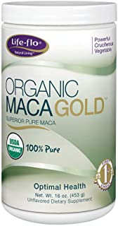 Life-Flo Organic Maca Gold Supplement   100% Pure Maca Powder for Energy, Stamina & Vitality Support   Unflavored   16oz
