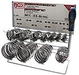 BGS 8095 | Schlauchklemmen-Sortiment | 111-tlg. | rostfrei | Ø 12 - 20 mm | Schlauchschellen | Rohrschlauchbefestigungen