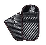 AiBast 2 Pack Keyless Go Schutz Autoschlüssel Mini RFID Funkschlüssel Abschirmung Schlüsseltasche,Signalabschirmung wasserdicht Entmagnetisierung verhindern-Keine Batterie