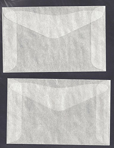 1,000#2 Glassine Envelopes Measuring 2 5/16' x 3 5/8'