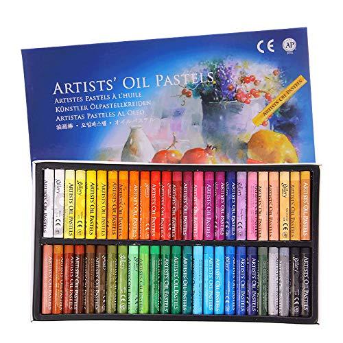 Set di pastelli a olio, morbidi bastoncini per pittura a olio per bambini, artisti, studenti, principianti,50 colori