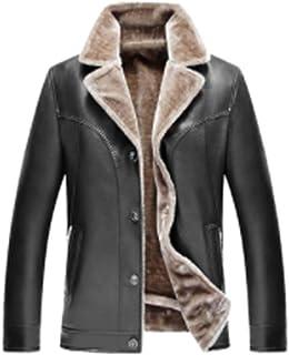 (グードコ) メンズ 毛皮コート 裏起毛 レザージャケット 裏ボア PUレザー 大きいサイズ フェイクコート 厚手 紳士 防風