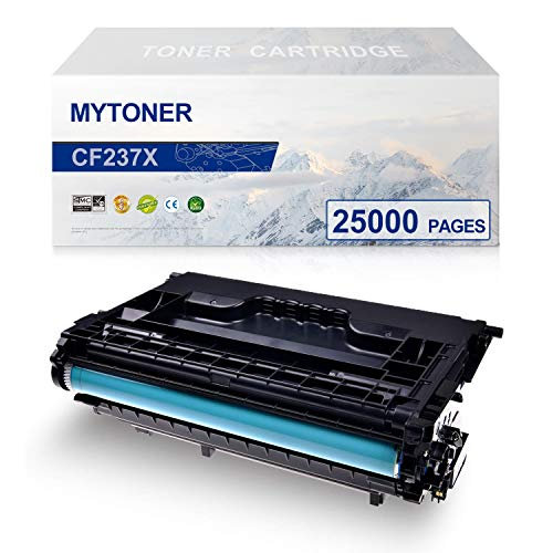 MYTONER High Yield Compatible Toner Cartridge Replacement for HP 37X CF237X for HP Laserjet Enterprise HP Laserjet Enterprise MFP M608 M609 M631 M632 M633 Printer(Black,1-Pack)