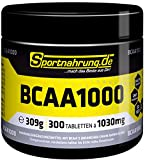 Sportnahrung.de BCAA 1000 - hochdosierte Kapseln mit freien BCAAs, zur Unterstützung von...