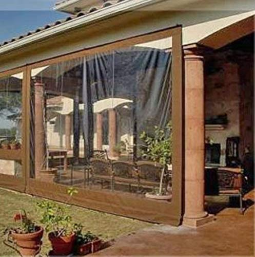 how to enclose a winter porch: Waterproof Commercial Grade 0.5mm Vinyl Clear Awning Canopy Patio Enclosure