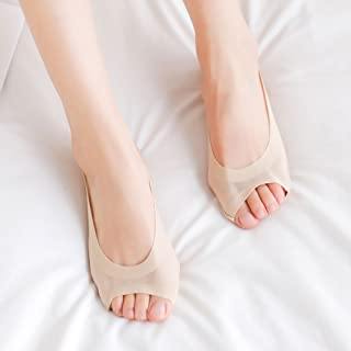 Hoverwin, hoverwin protège-pieds Mujer Socquettes antideslizantes–Calcetines ligeros Invisible Mujer–Fin abierto–bajo calcetines corta mujeres de été- transpirables, suave y Stretch, carne, medium