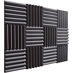 PREMIUM QUALITY ACOUSTIC STUDIO FOAM - Each piece of foam comes uncompressed and in pristine condition, ready to install today! What you see in the photos is exactly what you get. GREAT FOR SPOT TREATING YOUR LISTENING ENVIRONMENT - For use in record...
