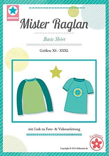 Farbenmix Mister Raglan Schnittmuster (Papierschnittmuster für die Größen XS-XXXL) Hoodie