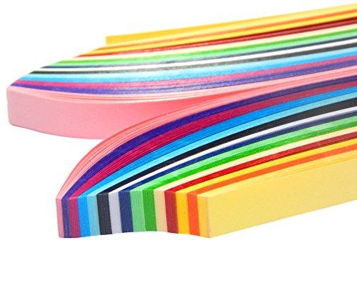 Quilling Papier 500mm x 10mm Set mit 15 Farben Board Papierstreifen Basteln Deko DEK97