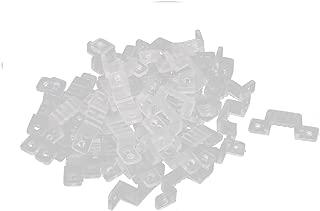 uxcell 15mm x 7mm Plastic LED Light Strip Fixing Mounting Bracket Clear 50pcs