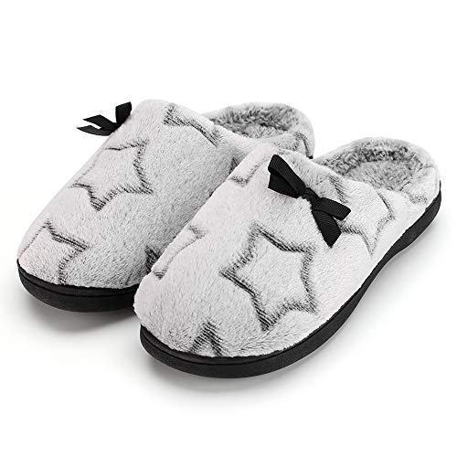 Zapatillas de Invierno cálidas y cómodas para Mujer, Zapatillas de casa Antideslizantes...
