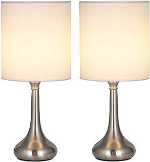 Juego de 2 lámparas de mesa modernas al lado, lámparas de