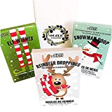 Gourmet Village Reindeer Droppings Strawberry Jelly Beans, Elf Wishes Red and Green Jelly Beans, Snowman Poop White Candy Cane Hot Chocolate and Mini Marshmallows in a Gift Box