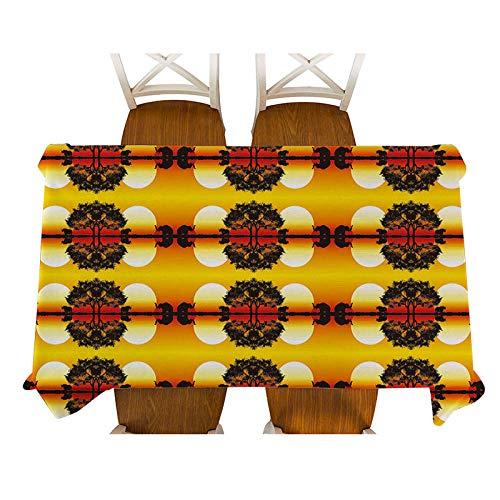 Mantel Rectangular 140x180cm PVC Impermeable Antimanchas Durable Lavable Manteles Árbol Amarillo Al Atardecer Impresos Adecuado para Decorar Cocina Comedor Salón