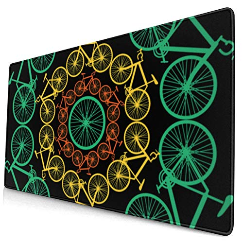 Cycle of Life - Cool Bike Bike Mountain Bike Mountainbiker Cyclist Large Video Game Office Game Learning School Gift Computer Lock Edge Table Mat Competitive Mouse Pad.