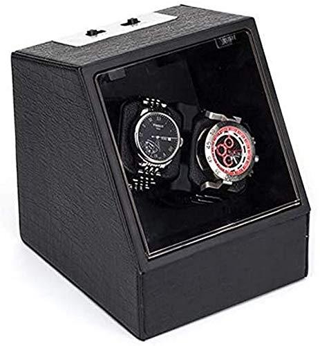 2 + 0 Negro Automático Mecánico Reloj de bobinado Caja de enrollamiento Turn Turn Reloj Dispositivo MOVER ROTOR WATCK SHAKER Caja de almacenamiento Pantalla de visualización adecuada para relojes mecá
