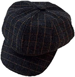 591a7085371 Sviper Artist s hat Woolen Octagonal Hat Men and Women Wild Cap Painter Hat  Literary Retro Lattice
