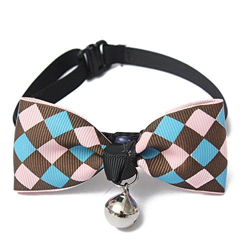 jj Store Pet Bowknot papillon collare con Bell per gatti o cani di piccola taglia