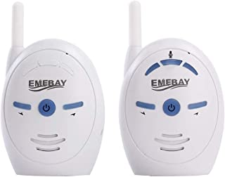 EMEBAY - 2.4GHz Portable Digital Wireless Transmission Voice Baby Monitor Audio with Two-Way Talk Back Feature Infant Sign...