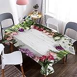 Mantel Crisantemo 3D, Mantel Impermeable y a Prueba de Aceite, Apto para picnics, Fiestas de cumpleaños, cafés M-10 140x200cm