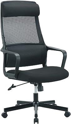 TANUMI ハイバック オフィスチェア 通気性 メッシュ デスクチェア 360度回転 無段階昇降いす 人間工学的で組み立てが簡単な事務椅子 肘付き ロッキング機能 パソコンチェア 長期オフィス 在宅勤務に適しています ブラック…