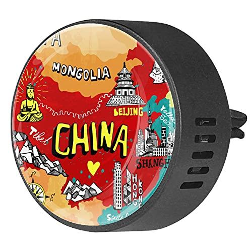 BestIdeas - Deodorante per auto, 2 pezzi, con cartina cinematografica, diffusore di oli essenziali per aromaterapia