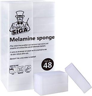 "MR.SIGA Melamine Sponge, 48 Count, Size 3.1"" x 2"" x 1"""