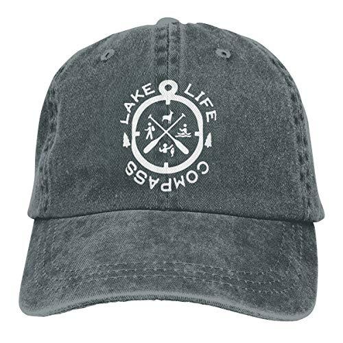KioHp Lake Life Kompas Logo Klassieke Plain Polo Stijl Verstelbare Hoed Fit Outdoor Activiteiten Snel Drogen Zes Panel Cap Diepe Heather