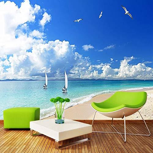 Papel pintado mural personalizado paisaje de playa de arena sala de estar moderna sofá TV Fondo diseños de pared pintura de pared papel tapiz fotográfico 3D
