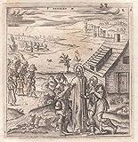 L.Gaultier-Gesù Guarisce Due Ciechii Bulino 1578-L1247
