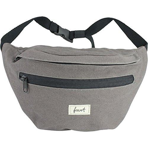 FORVERT Unisex Bag Chris größenverstellbarer Hüftbeutel mit zusätzlichem Stickbag auf der Innenseite, grau (Grey)