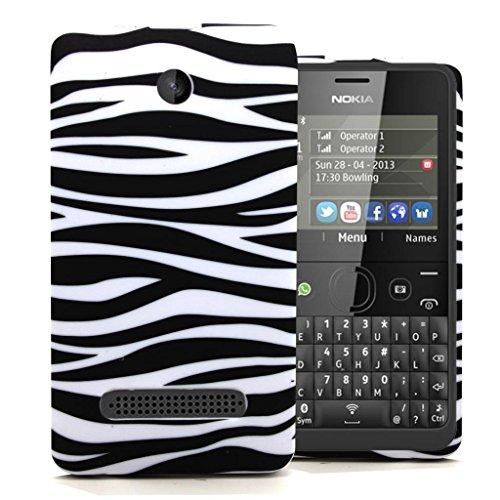 Accessory Master - Custodia rigida per Nokia Asha N210, design zebrato, multicolore