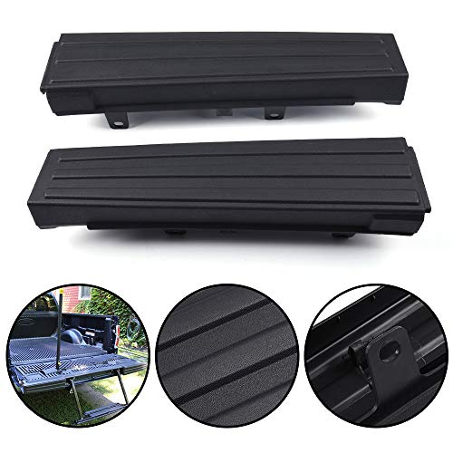 G-PLUS Compatible for Ford F150 F-150 2009 2010 2011 2012 2013 2014 Black Flexible Step Tailgate Protector Molding Trim Pad Right & Left Side 9L3Z9941019AA 9L3Z9941018AA