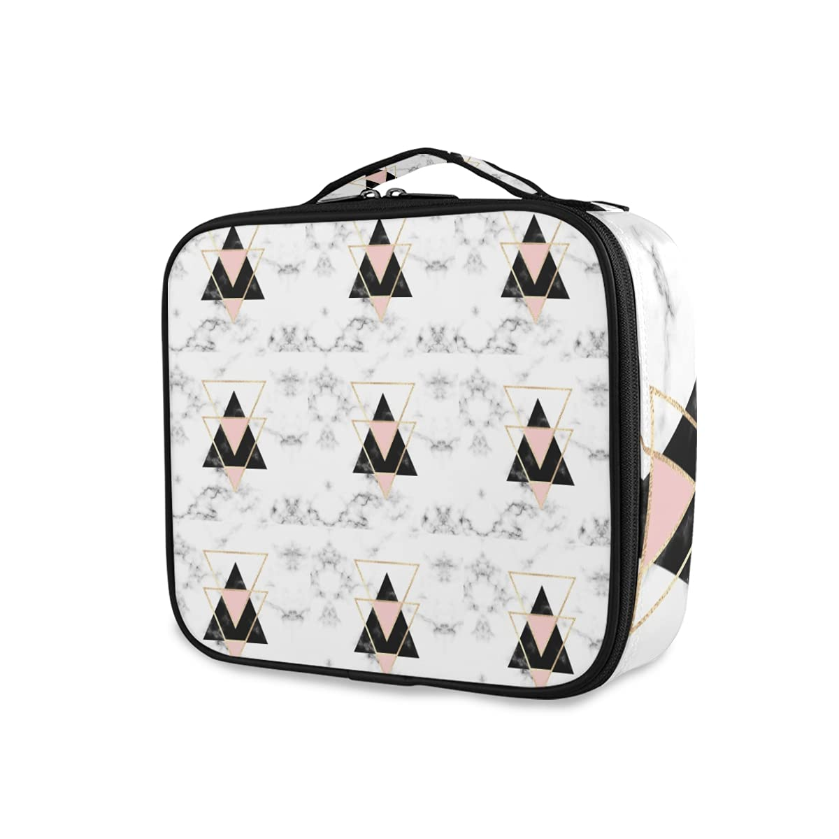 Charlotte Mall Golden Pink Max 44% OFF Black Triangles on Marble Geometric White Te