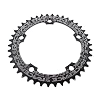 RACE FACE(レースフェイス) Narrow Wide 110mm BCD、38t Chainring、9–12sp、BCD : 110、7075- t6アルミ、ブラック RNW110X38BLK_Noir
