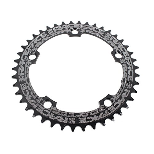 RACE FACE(レースフェイス) Narrow Wide 110mm BCD、42t Chainring、9–12sp、BCD : 110、7075- t6アルミ、ブラック RNW110X42BLK_Noir